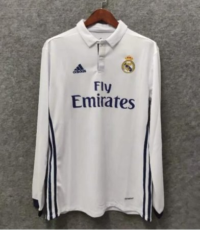 Camisa Real Madrid 2016-2017 (Home-Uniforme 1) - Manga Longa
