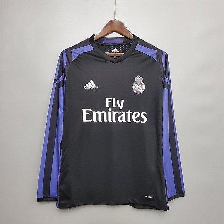 Camisa Real Madrid 2016-2017 (Third-Uniforme 3) - Manga Longa