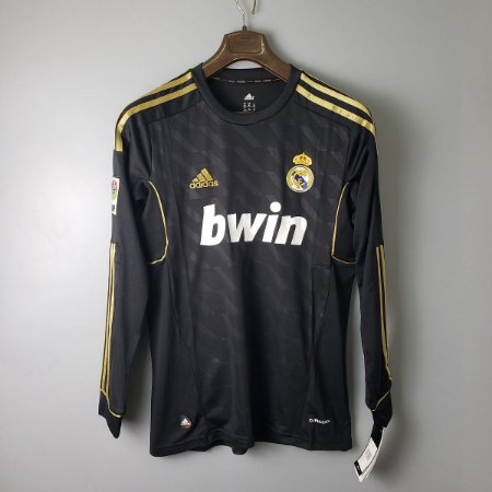 Camisa Real Madrid 2011-2012 (Away-Uniforme 2) - Manga Longa