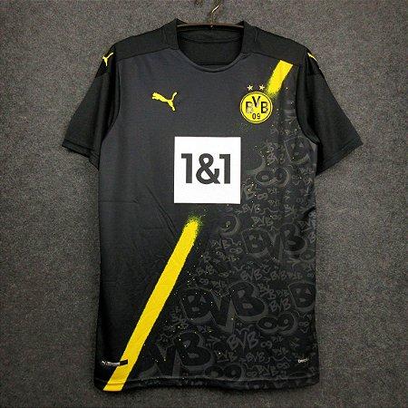 Camisa Borussia Dortmund 2020-21 (Away-Uniforme 2) - Modelo Torcedor
