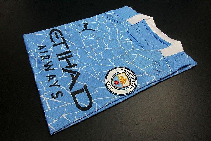 Camisa Manchester City 2020-21 (Home-Uniforme 1) - Modelo Jogador