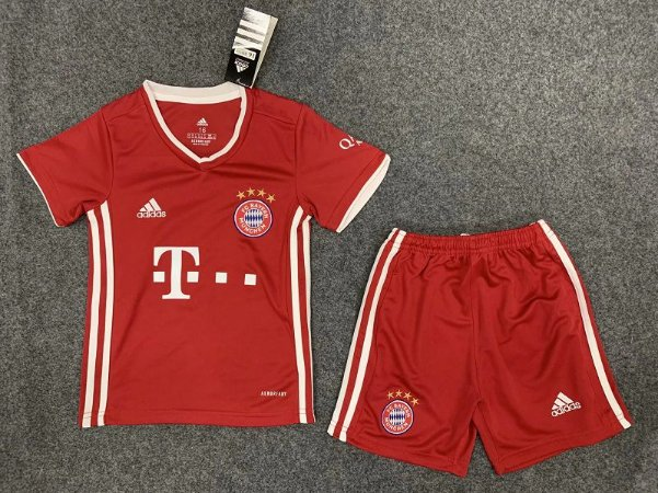 Conjunto Infantil (Camisa + Shorts) Bayern Munich 2020-2021 (Home-Uniforme 1)
