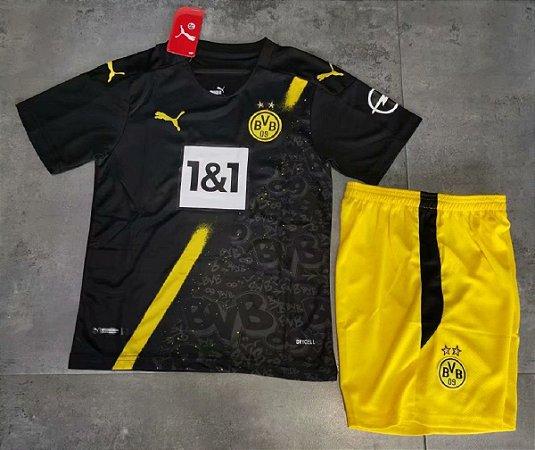 Conjunto Infantil (Camisa + Shorts) Borussia Dortmund 2020-2021 (Away-Uniforme 2)