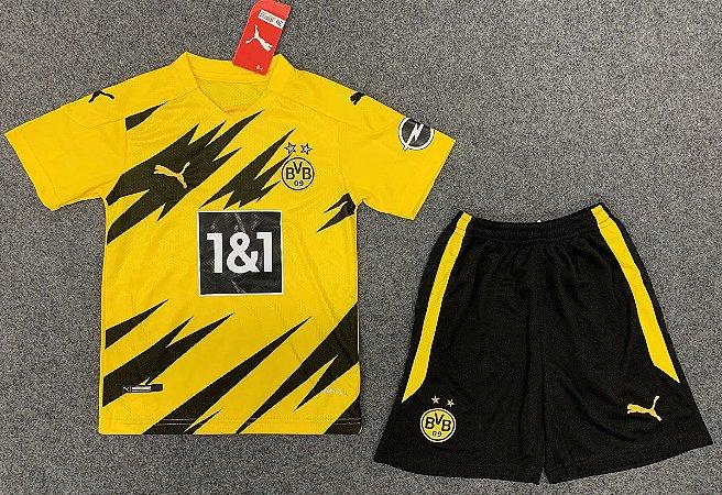 Conjunto Infantil (Camisa + Shorts) Borussia Dortmund 2020-2021 (Home-Uniforme 1)