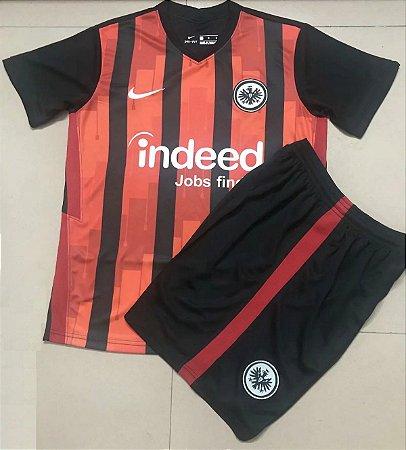 Conjunto Infantil (Camisa + Shorts) Eintracht Frankfurt 2020-2021 (Home-Uniforme 1)