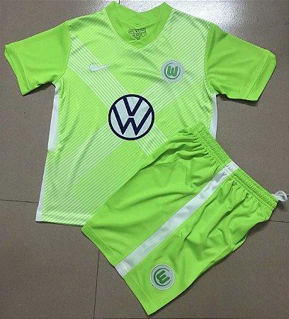 Conjunto Infantil (Camisa + Shorts) Wolfsburg 2020-2021 (Home-Uniforme 1)