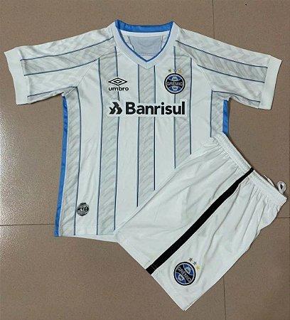 Conjunto Infantil (Camisa + Shorts) Grêmio 2020-2021 (Away-Uniforme 2)