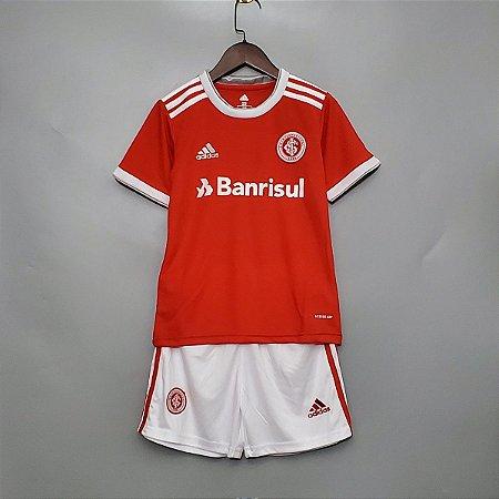 Conjunto Infantil (Camisa + Shorts) Inter-RS 2020-2021 (Home-Uniforme 1)