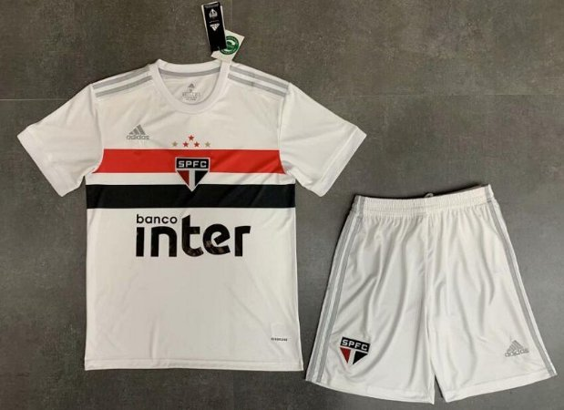 Conjunto Infantil (Camisa + Shorts) São Paulo 2020-21 (Home-Uniforme 1)