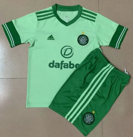 Conjunto Infantil (Camisa + Shorts) Celtic 2020-21 (Away-Uniforme 2)