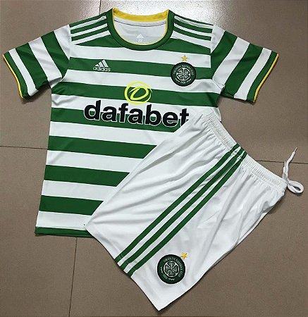Conjunto Infantil (Camisa + Shorts) Celtic 2020-21 (Home-Uniforme 1)