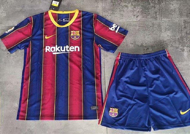 Conjunto Infantil (Camisa + Shorts) Barcelona 2020-21 (Home-Uniforme 1)