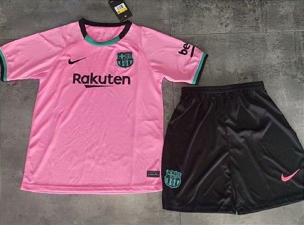 Conjunto Infantil (Camisa + Shorts) Barcelona 2020-21 (Third-Uniforme 3)