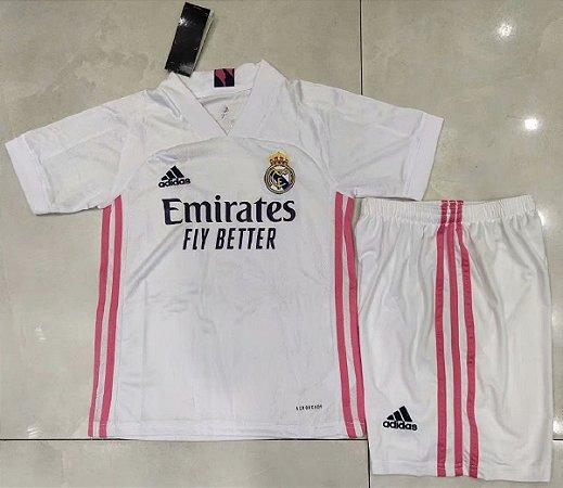 Conjunto Infantil (Camisa + Shorts) Real Madrid 2020-2021 (Home-Uniforme 1)