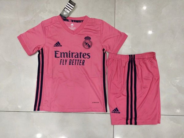Conjunto Infantil (Camisa + Shorts) Real Madrid 2020-2021 (Away-Uniforme 2)