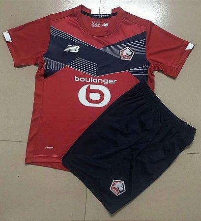 Conjunto Infantil (Camisa + Shorts) Lille 2020-2021 (Home-Uniforme 1)