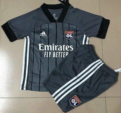 Conjunto Infantil (Camisa + Shorts) Lyon 2020-2021 (Away-Uniforme 2)