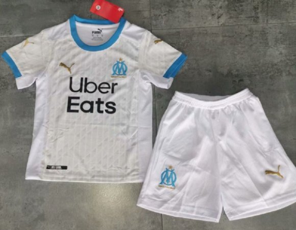 Conjunto Infantil (Camisa + Shorts) Olympique Marseille 2020-2021 (Home-Uniforme 1)