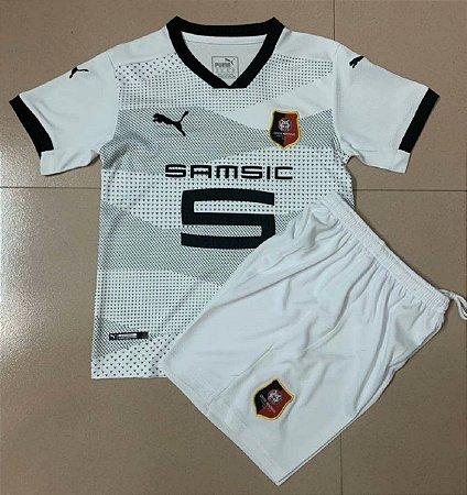 Conjunto Infantil (Camisa + Shorts) Rennes 2020-2021 (Away-Uniforme 2)