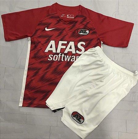 Conjunto Infantil (Camisa + Shorts) AZ Alkmaar 2020-2021 (Home-Uniforme 1)