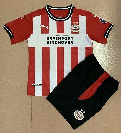 Conjunto Infantil (Camisa + Shorts) PSV Eindhoven 2020-2021 (Home-Uniforme 1)