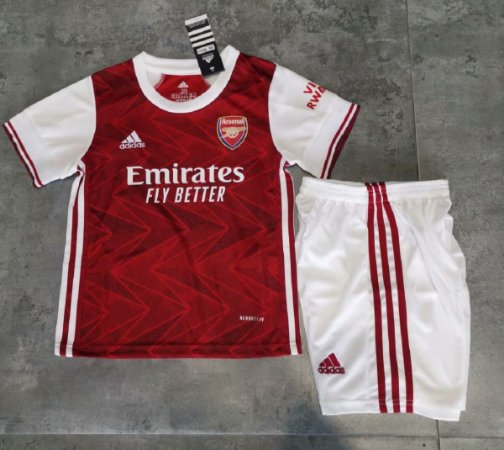 Conjunto Infantil (Camisa + Shorts) Arsenal 2020-2021 (Home-Uniforme 1)