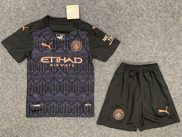 Conjunto Infantil (Camisa + Shorts) Manchester City 2020-2021 (Away-Uniforme 2)