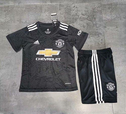 Conjunto Infantil (Camisa + Shorts) Manchester United 2020-2021 (Away-Uniforme 2)