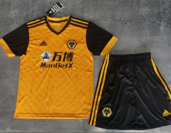 "Conjunto Infantil (Camisa + Shorts) Wolverhampton ""Wolves"" 2020-2021 (Home-Uniforme 1)"