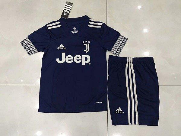 Conjunto Infantil (Camisa + Shorts) Juventus 2020-2021 (Away-Uniforme 2)
