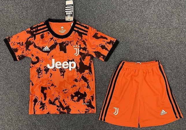 Conjunto Infantil (Camisa + Shorts) Juventus 2020-2021 (Third-Uniforme 3)