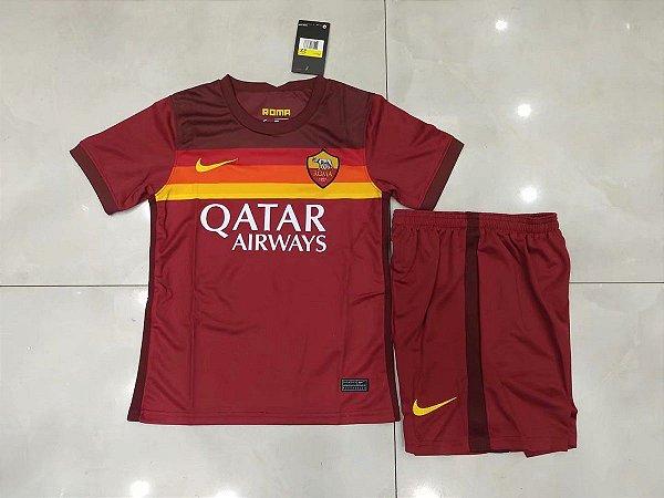 Conjunto Infantil (Camisa + Shorts) Roma 2020-2021 (Home-Uniforme 1)