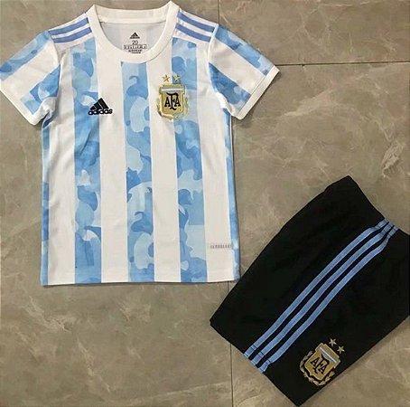 Conjunto Infantil (Camisa + Shorts) Argentina 2020-22 (Home-Uniforme 1)