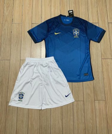 Conjunto Infantil (Camisa + Shorts) Brasil 2020-21 (Away-Uniforme 2)
