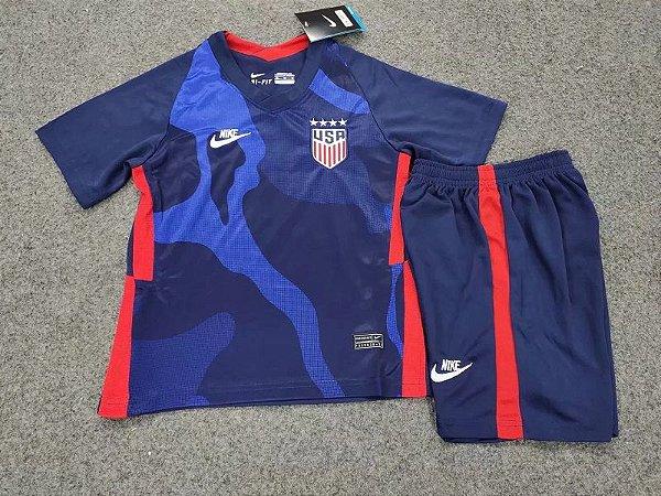 Conjunto Infantil (Camisa + Shorts) EUA 2020-2021 (Away-Uniforme 2)