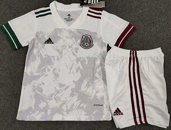 Conjunto Infantil (Camisa + Shorts) México 2020-2021 (Away-Uniforme 2)