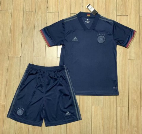 Conjunto Infantil (Camisa + Shorts) Alemanha 2020-2021 (Away-Uniforme 2)