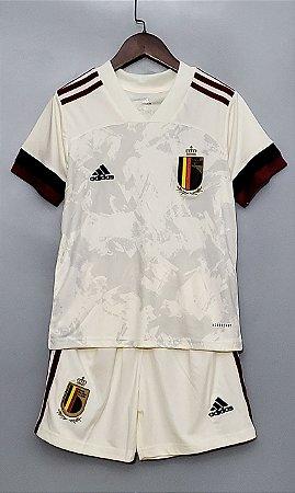 Conjunto Infantil (Camisa + Shorts) Bélgica 2020-2021 (Away-Uniforme 2)