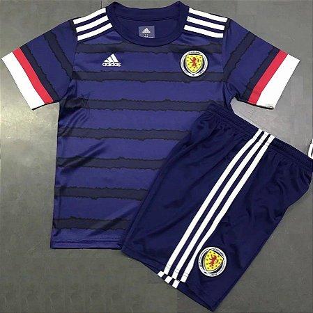 Conjunto Infantil (Camisa + Shorts) Escócia 2020-2021 (Home-Uniforme 1)
