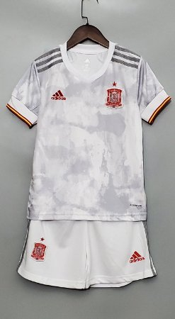 Conjunto Infantil (Camisa + Shorts) Espanha 2020-2021 (Away-Uniforme 2)