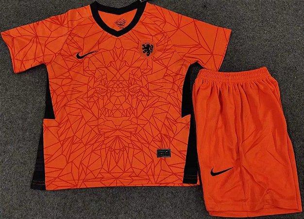 Conjunto Infantil (Camisa + Shorts) Holanda 2020-2021 (Home-Uniforme 1)