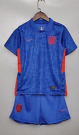 Conjunto Infantil (Camisa + Shorts) Inglaterra 2020-2021 (Away-Uniforme 2)