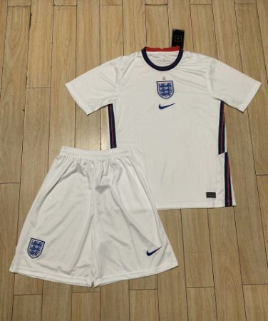 Conjunto Infantil (Camisa + Shorts) Inglaterra 2020-2021 (Home-Uniforme 1)