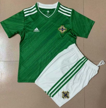 Conjunto Infantil (Camisa + Shorts) Irlanda do Norte 2020-2021 (Home-Uniforme 1)