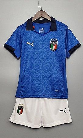 Conjunto Infantil (Camisa + Shorts) Itália 2020-2021 (Home-Uniforme 1)