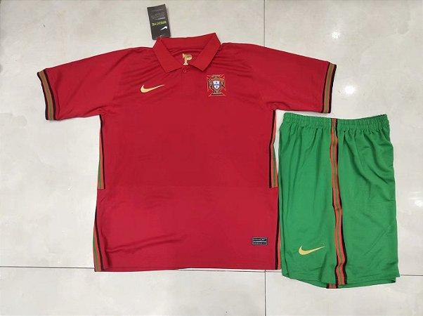 Conjunto Infantil (Camisa + Shorts) Portugal 2020-2021 (Home-Uniforme 1)