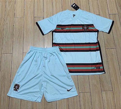 Conjunto Infantil (Camisa + Shorts) Portugal 2020-2021 (Away-Uniforme 2)