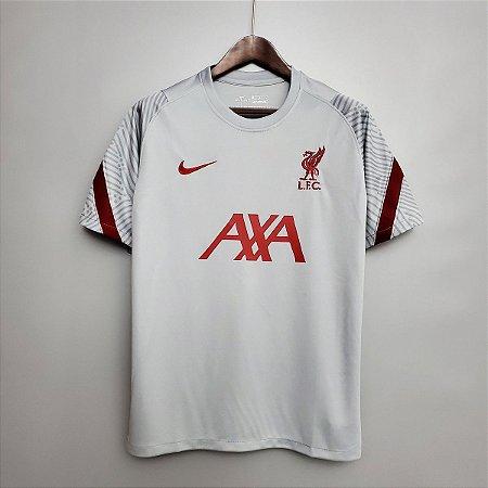 Camisa Liverpool (treino - cinza claro) 2020-21