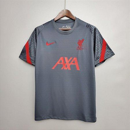 Camisa Liverpool (treino - cinza escuro) 2020-21