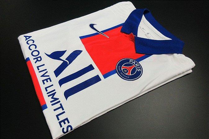"""Camisa Paris Saint Germain """"PSG"""" 2020-21 (Away-Uniforme 2) - Modelo Jogador"""